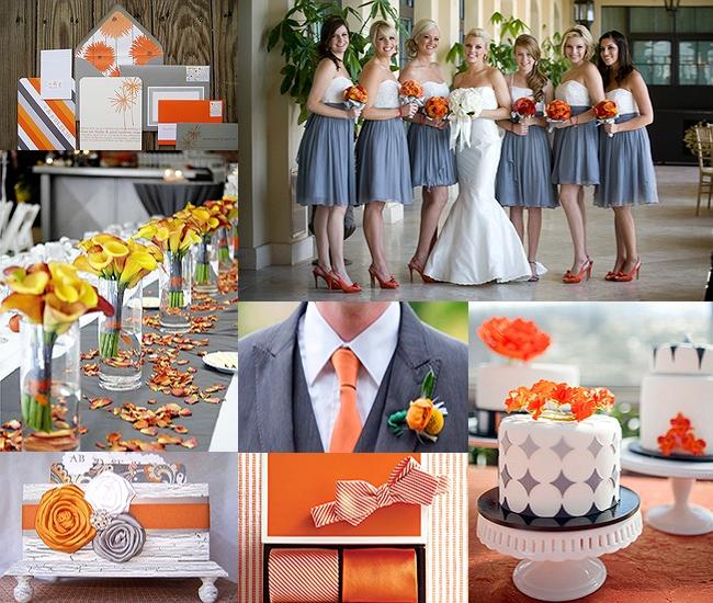 Purple Orange Wedding Ideas: Gray Wedding Details