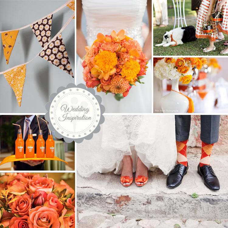 Orange wedding inspirations orange wedding inspiration junglespirit Gallery
