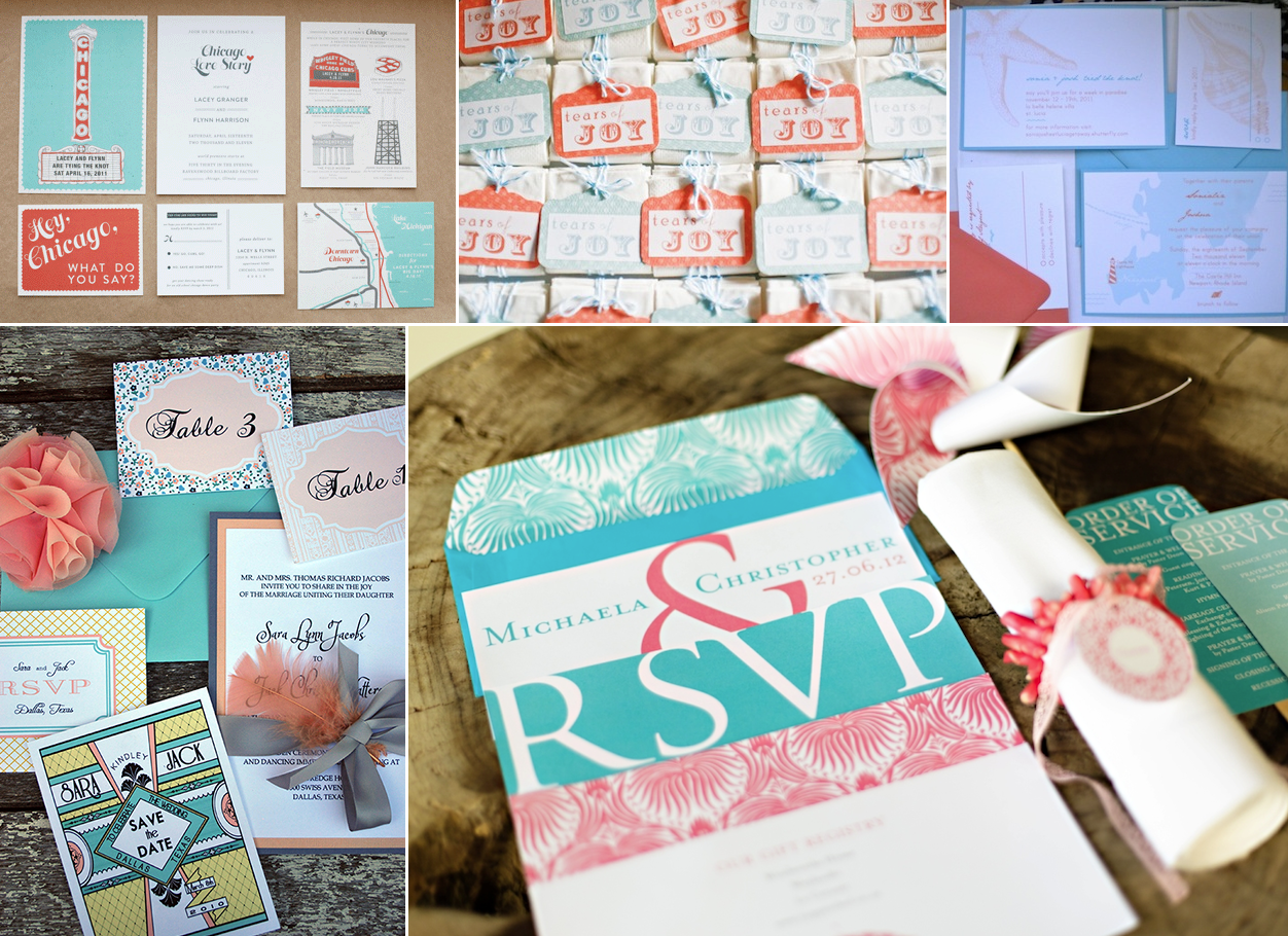 coral-turquoise-wedding-stationery