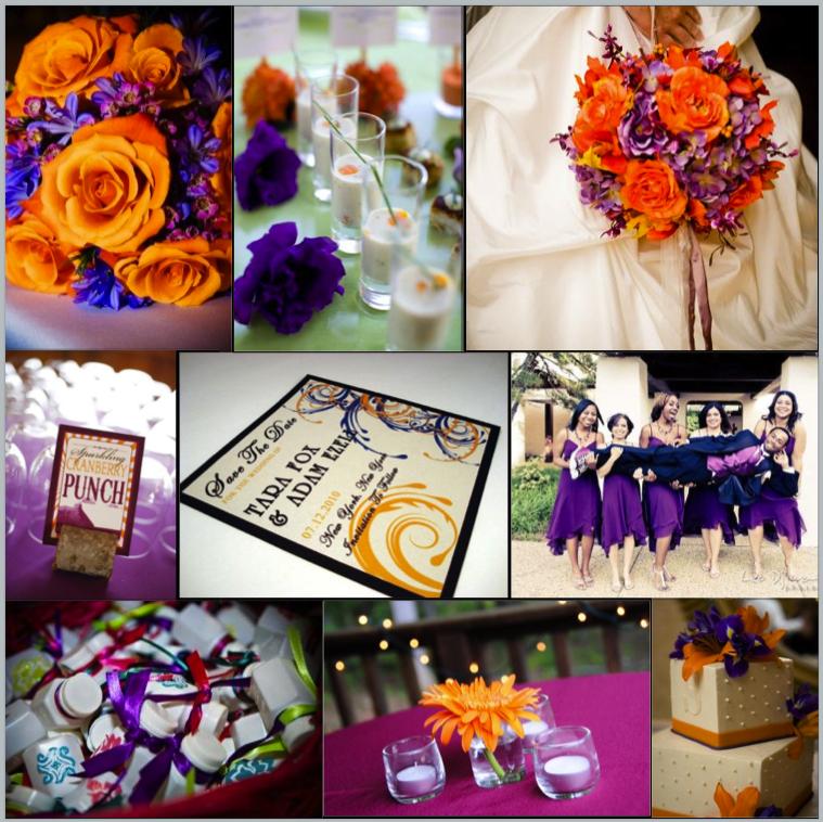 Purple And Orange Flowers For Wedding Flowers Healthy