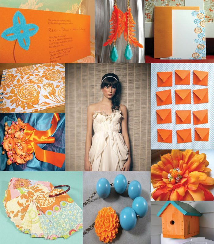 Best Ideas For Purple And Teal Wedding: Orange Wedding Inspirations
