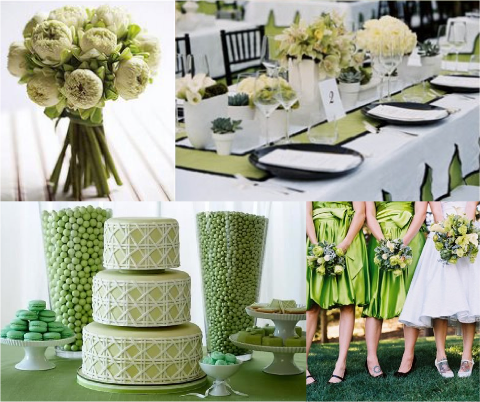 Green Wedding Ideas: Green Wedding Inspirations By K & K Designs