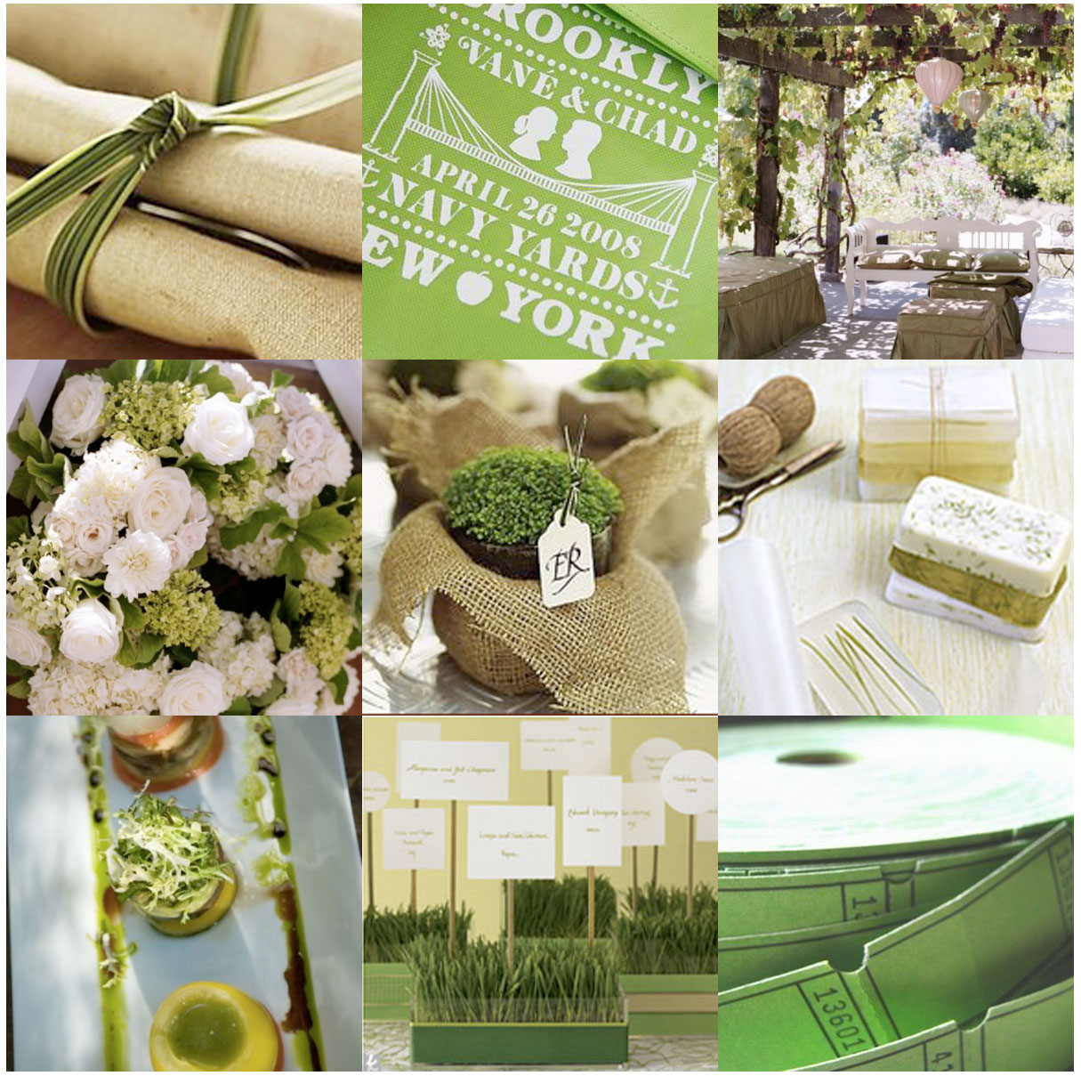 Wedding Ideas And Inspirations: Green Wedding Inspirations By K & K Designs