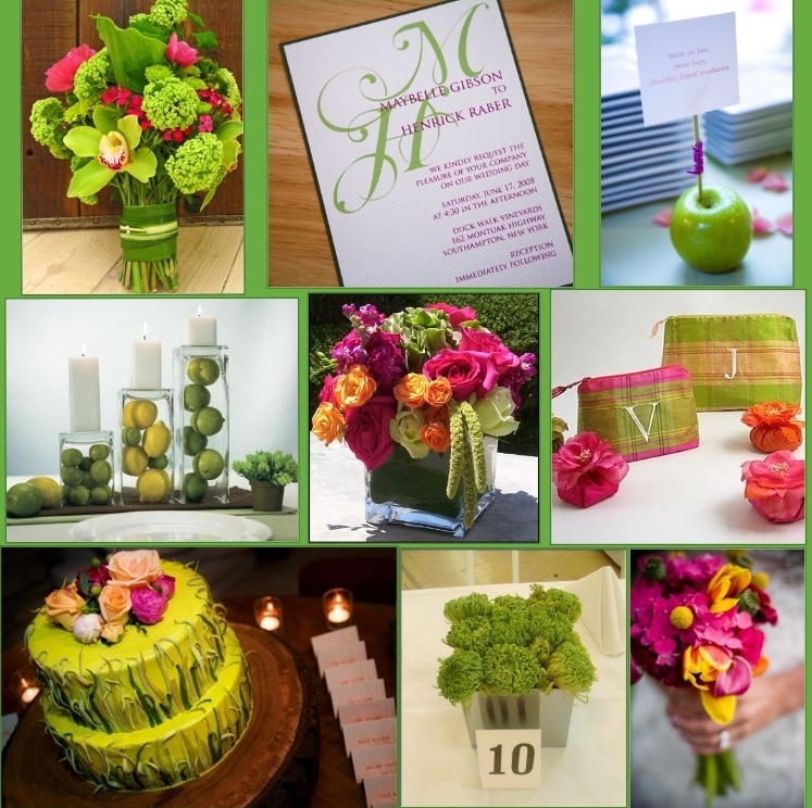 wedding-inspirationboard-green-and-pink
