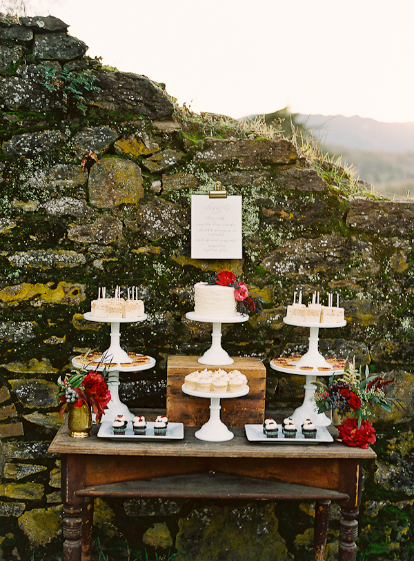 Outdoor-Dessert-Table-by-Stone-Wall
